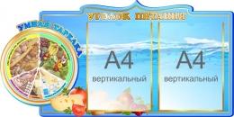 Купить Стенд Уголок питания с умной тарелкой 800*400 мм в Беларуси от 43.00 BYN