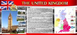 Купить Стенд UNITED KINGDOM на английском языке в стиле Лондон 1200*550 мм в Беларуси от 76.00 BYN