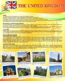 Купить Стенд UNITED KINGDOM в кабинет английского языка 600*750 мм в Беларуси от 49.00 BYN