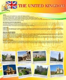 Купить Стенд UNITED KINGDOM в кабинет английского языка 700*850 мм в Беларуси от 65.00 BYN