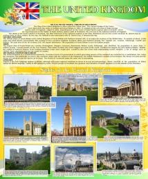 Купить Стенд UNITED KINGDOM в зеленых тонах в кабинет английского языка 700*850 мм в Беларуси от 68.00 BYN