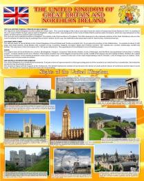 Купить Стенд UNITED KINGDOM в золотистых тонах в кабинет английского языка 600*750 мм в Беларуси от 49.00 BYN