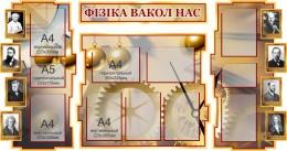 Купить Стенд в кабинет Физики Фiзiка вакол нас на белоруском языке 1800*995мм в Беларуси от 225.30 BYN