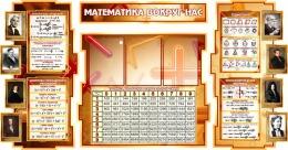 Купить Стенд в кабинет Математики Математика вокруг нас с формулами и тригономертической таблицей в бежево-коричневых тонах 1825*955мм в Беларуси от 199.50 BYN