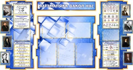 Купить Стенд в кабинет Математики Матэматыка вакол нас на белорусском языке  1800*995мм в Беларуси от 227.30 BYN