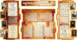 Купить Стенд в кабинет Математики Матэматыка вакол нас на белорусском языке с формулами 1800*995мм в Беларуси от 227.30 BYN