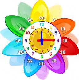 Купить Стенд в виде часов Учим Время в стиле группы Семицветик 360*360мм в Беларуси от 15.00 BYN