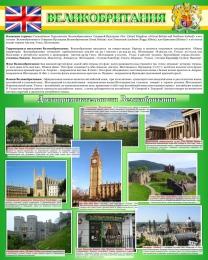 Купить Стенд Великобритания в золотисто-зелёных тонах 600*750 мм в Беларуси от 52.00 BYN
