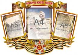 Купить Стенд Ветеран живёт рядом на тему ВОВ 740*560мм в Беларуси от 57.30 BYN