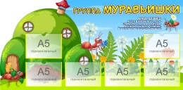 Купить Стенд-визитка для группы детского сада Муравьишки 1130*560 мм в Беларуси от 85.40 BYN
