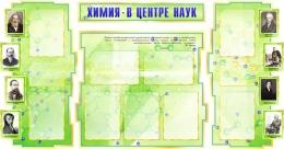 Купить Стенд Химия - в центре наук для кабинета химии зеленый 1800*995мм в Беларуси от 225.30 BYN