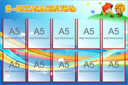 Купить Стенд Я - исследователь с карманами А5 350*480 мм в Беларуси от 76.00 BYN