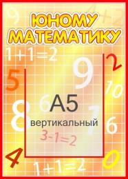 Купить Стенд  Юному математику с карманом А5 265*370мм в Беларуси от 12.40 BYN
