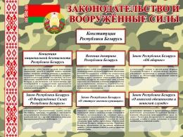 Купить Стенд Законодательство и Вооруженные Силы Республики Беларусь 800*600 мм в Беларуси от 55.00 BYN
