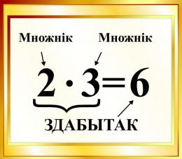 Купить Стенд Здабытак на белорусском языке для начальной школы в золотистых тонах 400*350мм в Беларуси от 16.00 BYN