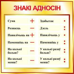 Купить Стенд Знакi адносiн в стиле Осень 550*550 мм в Беларуси от 35.00 BYN