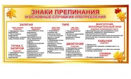 Купить Стенд Знаки препинания и основные случаи их употребления 700*330мм в Беларуси от 25.00 BYN
