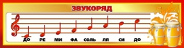 Купить Стенд Звукоряд для кабинета музыки 1500*400мм в Беларуси от 65.00 BYN