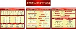 Купить Стендовая композиция Физика вокруг нас в бордовых тонах 2470*950мм в Беларуси от 210.00 BYN