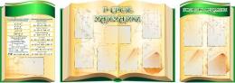 Купить Стендовая  композиция В свете математики в золотисто-зеленых тонах 2800*990мм в Беларуси от 334.00 BYN