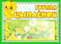 Купить Табличка для группы Цыплёнок с карманом для имен воспитателей 220*160 мм в Беларуси от 7.00 BYN