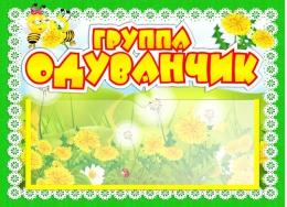 Купить Табличка для группы Одуванчик с карманом для имен воспитателей 220*160 мм в Беларуси от 7.00 BYN