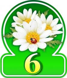 Купить Табличка на дом с ромашками без указания улицы 300*350 мм в Беларуси от 15.00 BYN