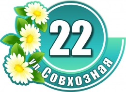 Купить Табличка Номер дома и название улицы Ромашка 500х360 мм в Беларуси от 21.00 BYN
