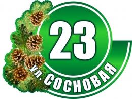 Купить Табличка Номер дома и название улицы в зеленых тонах Сосновая 520х390мм в Беларуси от 25.00 BYN