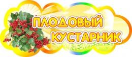 Купить Табличка Плодовый кустарник 350*150 мм в Беларуси от 7.00 BYN