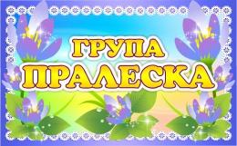 Купить Табличка Пралеска для группы Подснежники 260*160 мм в Беларуси от 6.00 BYN