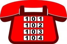 Купить Табличка телефон с номерами неотложных служб 300*200 мм в Беларуси от 7.00 BYN