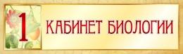 Купить Табличка в Кабинет Биологии в золотистых тонах 330*100 мм в Беларуси от 5.00 BYN