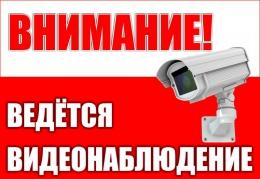 Купить Табличка Ведётся видеонаблюдение 220х150 мм в Беларуси от 4.00 BYN