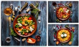 Купить Картина на холсте Аппетитные тарелочки в Беларуси от 30.00 BYN