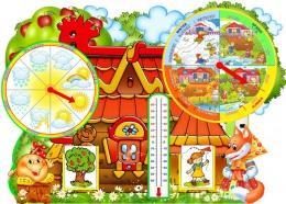Купить Яркий фигурный стенд Календарь Природы на английском языке 900*650 мм в Беларуси от 81.00 BYN