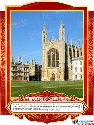 Комплект стендов Достопримечательности Великобритании для кабинета английского языка в золотисто-красных тонах 265*350 мм,280*350 мм Изображение #7