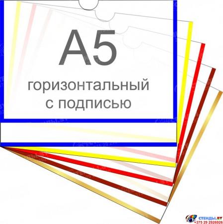 Карман пластиковый для ФОТО А5 горизонтальный самоклеящийся с подписью 225х185 мм