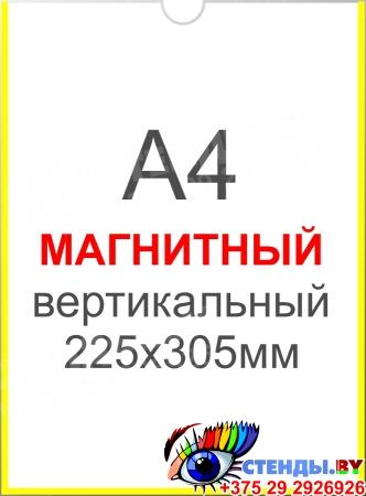 Карман вертикальный А4 на МАГНИТНОЙ ленте 225х305 мм