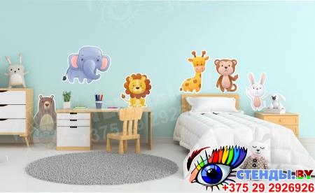 Комплект наклеек для интерьера детской комнаты Изображение #2
