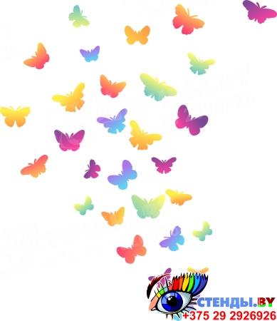 Комплект наклеек Бабочки для интерьера 344х260 мм