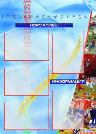 Стенд-композиция Спортивная жизнь школы в голубых тонах 1850*1000мм Изображение #4