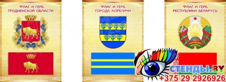 Комплект стендов Триптих Герб, Флаг Республики Беларусь и вашего города и области 300*400мм Изображение #8