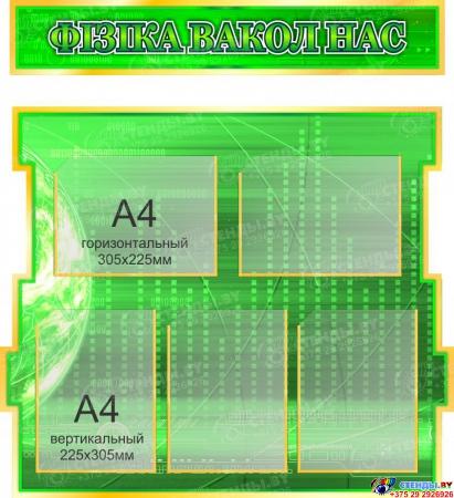 Стенд Фiзiка вакол нас в зелёных тонах на белорусском языке 1800*995мм Изображение #2