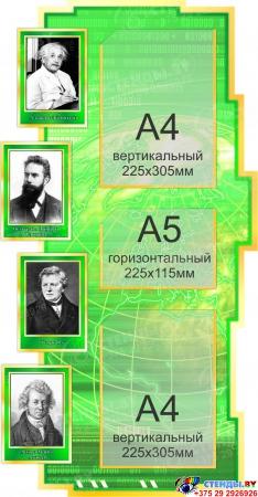 Стенд Фiзiка вакол нас в зелёных тонах на белорусском языке 1800*995мм Изображение #3