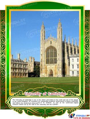 Комплект стендов Достопримечательности Великобритании для кабинета английского языка в тёмно-зелёных тонах 265*350 мм, 280*350 мм Изображение #7