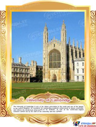 Комплект стендов Достопримечательности Великобритании для кабинета английского языка в золотистых тонах 265*350 мм,  280*350 мм Изображение #2