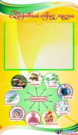 Стенд фигурный Биология - наука о жизни! В жёлтых тонах 1900*900мм Изображение #4
