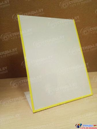 Карман вертикальный А4 на подставке из пластика 3 мм 225х305 мм Изображение #2