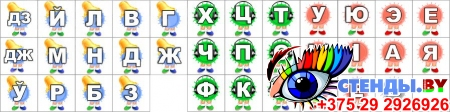 Стенд Букварынск на белорусском языке с карманами и карточками 1300*920 мм Изображение #2
